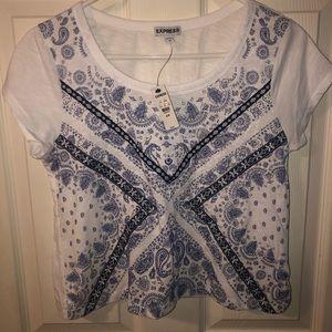 Express belly shirt/ small tee